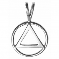 AA Symbol Pendant - Sterling Silver - Medium