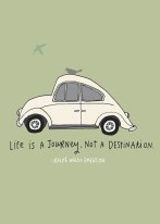 Life Is A Journey VW Card