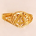 Lady Filigree Ring Gold