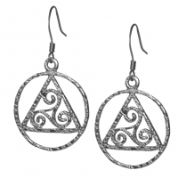 Sterling Silver, AA Earrings with Celtic Symbol