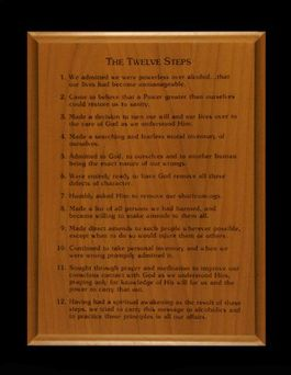 6x8 Twelve Steps Wall Plaque