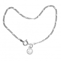 "Lt. Figaro Style 7"" Bracelet with Choice of Charm"