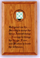 Wood Serenity Prayer Medallion Plaque