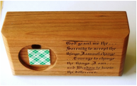 Wood Serenity Prayer Bar