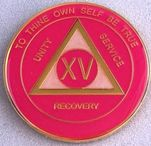 FREE SHIPPING!! AA Tri- Plate Medallion (Vivid Pink)