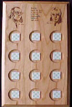 Wood Founders Rarely Have We 12 Hole Medallion Holder