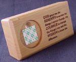 Wood Serenity Prayer Stand (Mini)