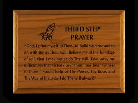 5x7 Third Step Prayer Wall Plaque