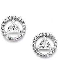 AA Recovery Symbol Cubic Zirconia Earrings
