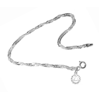 Small Singapore Sterling Bracelet with Your Choice of Charm