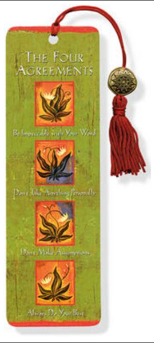 Four Agreements Bookmark with Tassel
