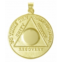 10k Gold, Large Recovery Medallion