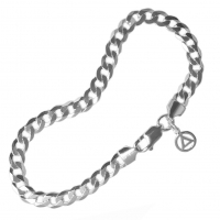 "Curb Link Sterling 8"" Bracelet with Your Choice of Charm"