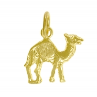 14k Gold Pendant, Adorable Camel