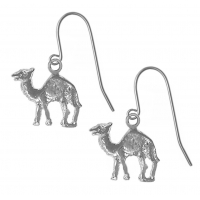 Sterling Silver Earrings, Adorable Camel