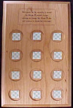 Wood 12 Hole Serenity Prayer Medallion Holder