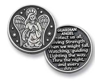 Guardian Angel Pewter Token Coin