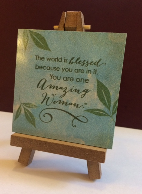 Amazing Woman Plaque with Easel
