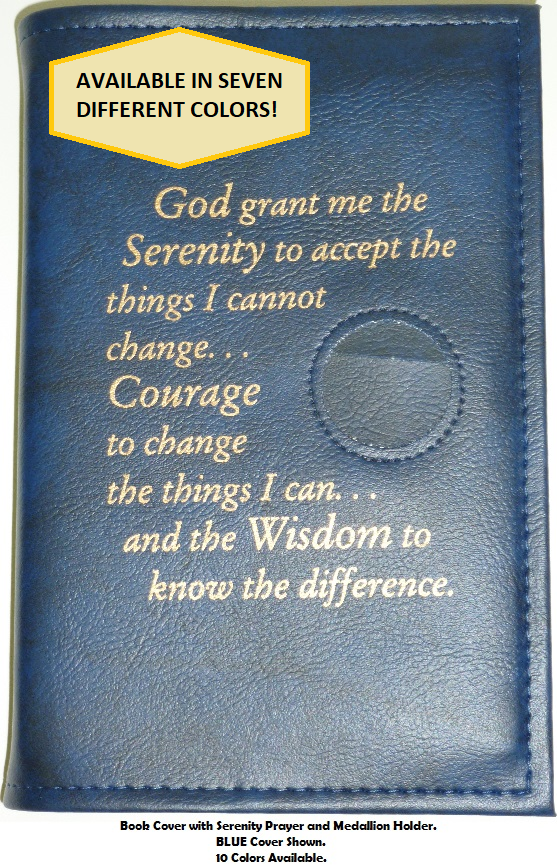 12 & 12 with Serenity Prayer and Medallion Holder