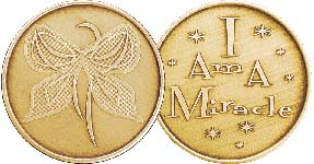 I Am A Miracle - Butterfly Bronze Medallion