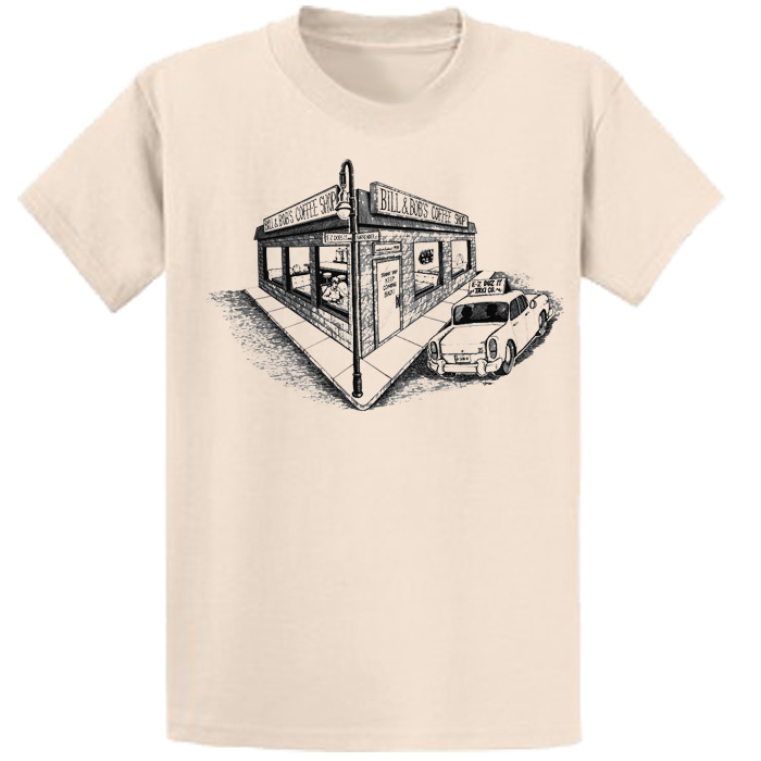 Bill & Bob's Coffee Shop Tee (Nat)