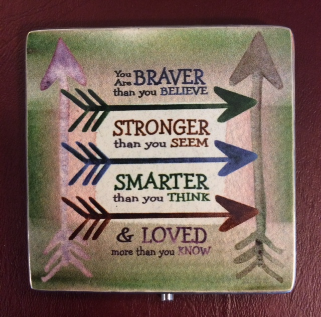 Braver - Stronger - Smarter Pewter Plaque