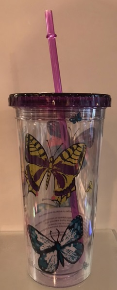 Butterfly Travel Tumbler with Straw