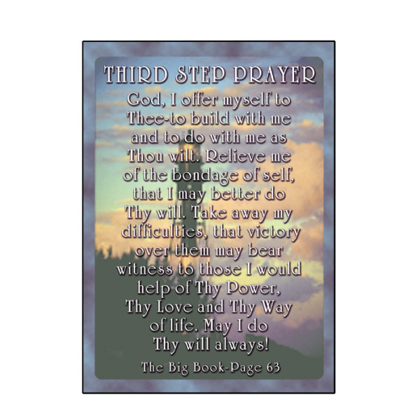 third step prayer card  c47