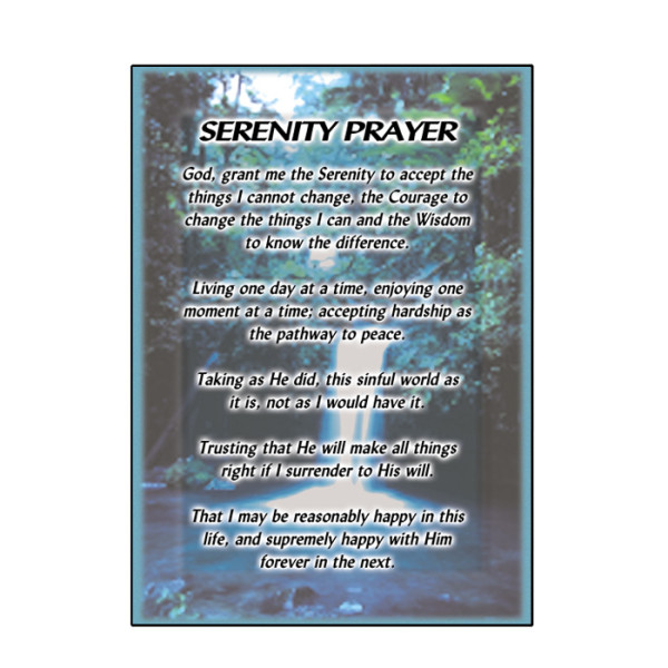 Serenity Prayer Card 6