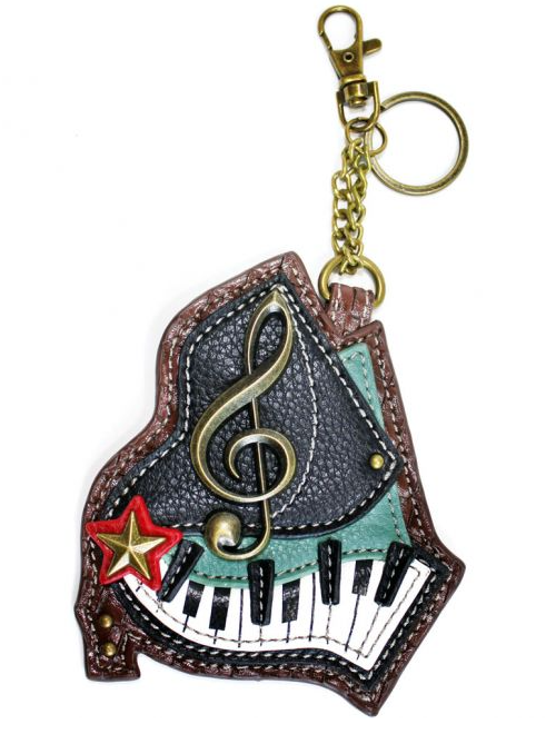 Piano Coin Purse with Key Chain
