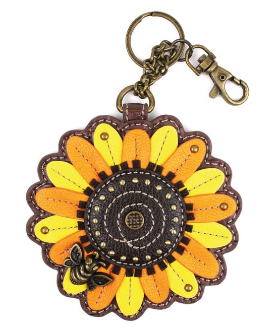 Sunflower Coin Purse with Key Chain