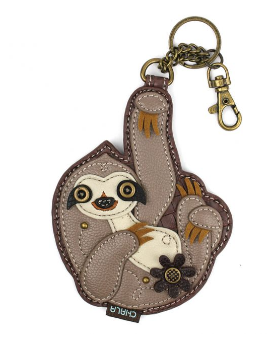 Sloth Coin Purse with Key Chain
