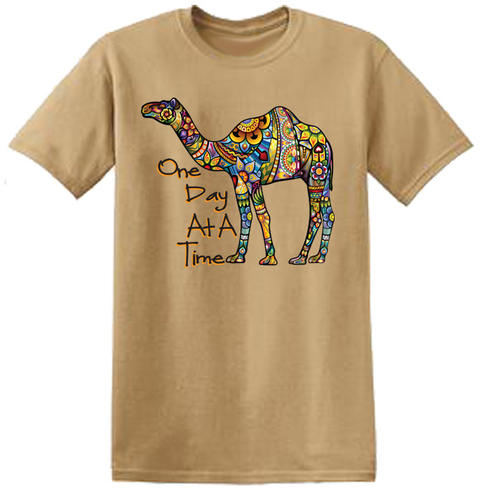 One Day At A Time Camel Tee (Khaki)