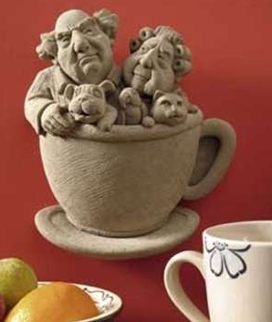 Got Coffee? Teacup Stone Figure