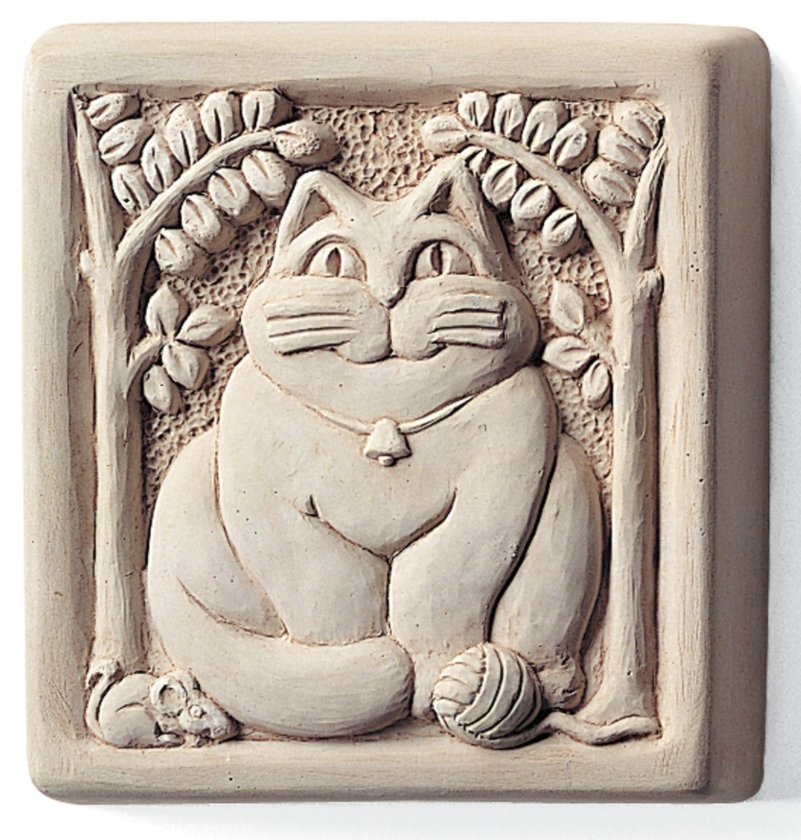 Fat Cat Stone Wall Art