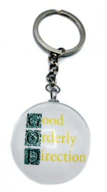 Good Orderly Direction (GOD) Keyring