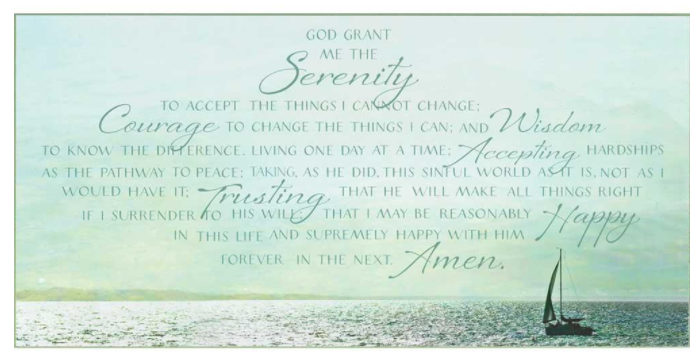 Full Version Serenity Prayer Wall Plaque