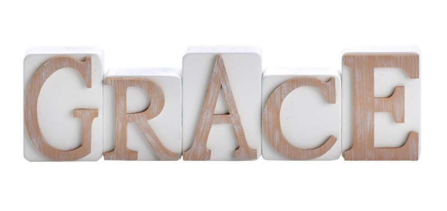 GRACE Tabletop Word Block Set