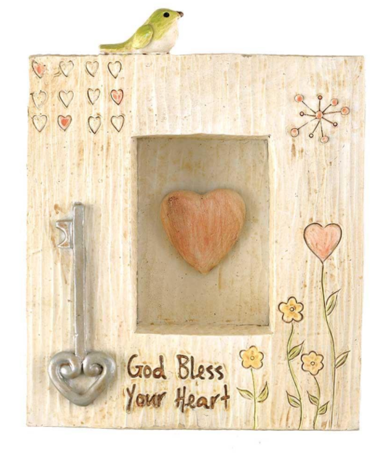 God Bless Your Heart Shadowbox Wall Plaque