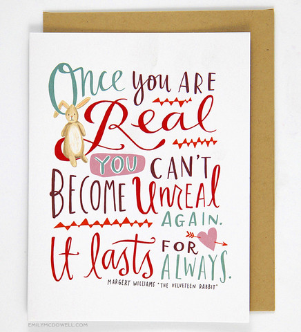 Once You Are Real...Card