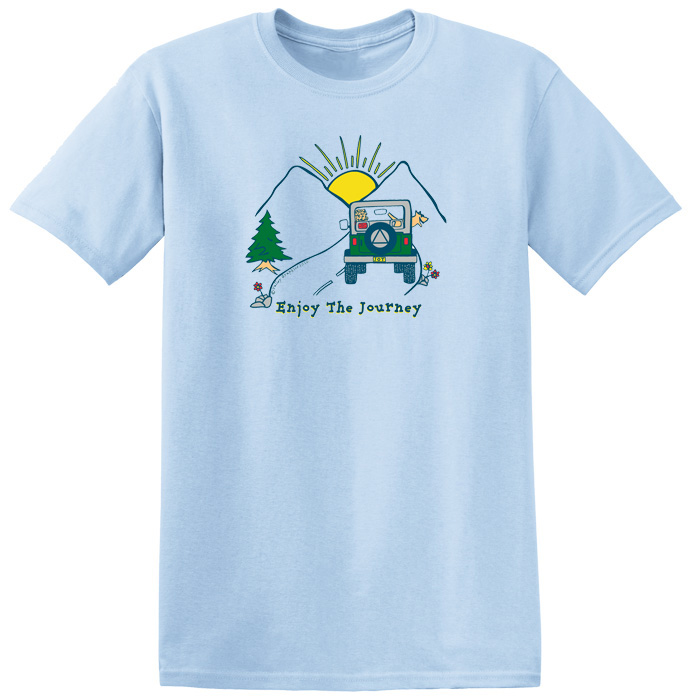 Enjoy The Journey Tee - Blue