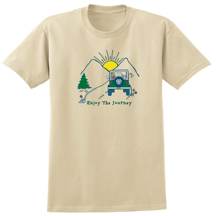 Enjoy The Journey Tee - Tan