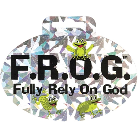 F.R.O.G. Holographic Sticker