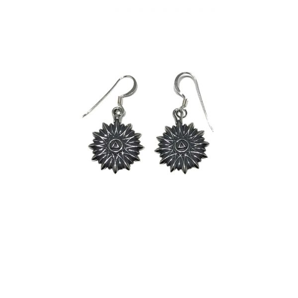 Floral Sunburst Symbol Earrings