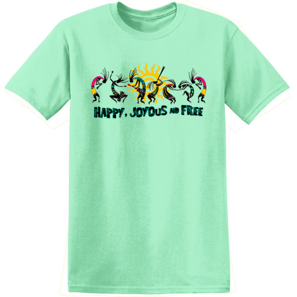 Happy Joyous & Free Tee - Mint