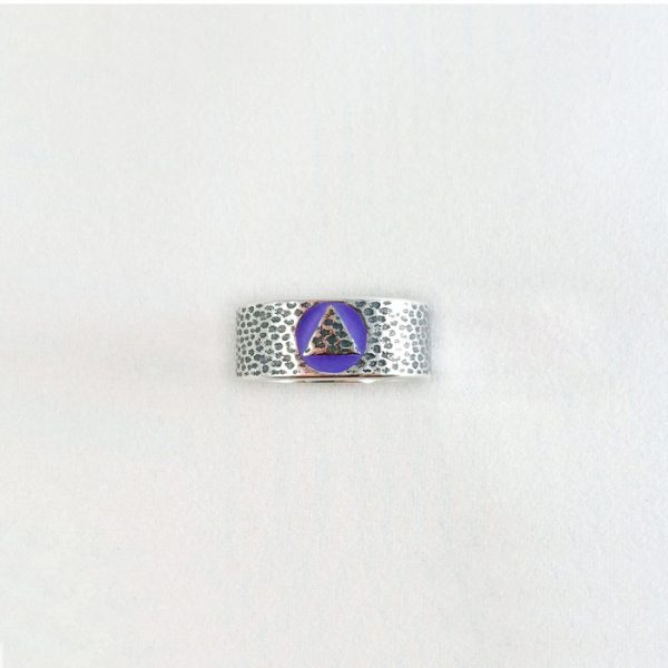 AA Hammered Look Filled Ring