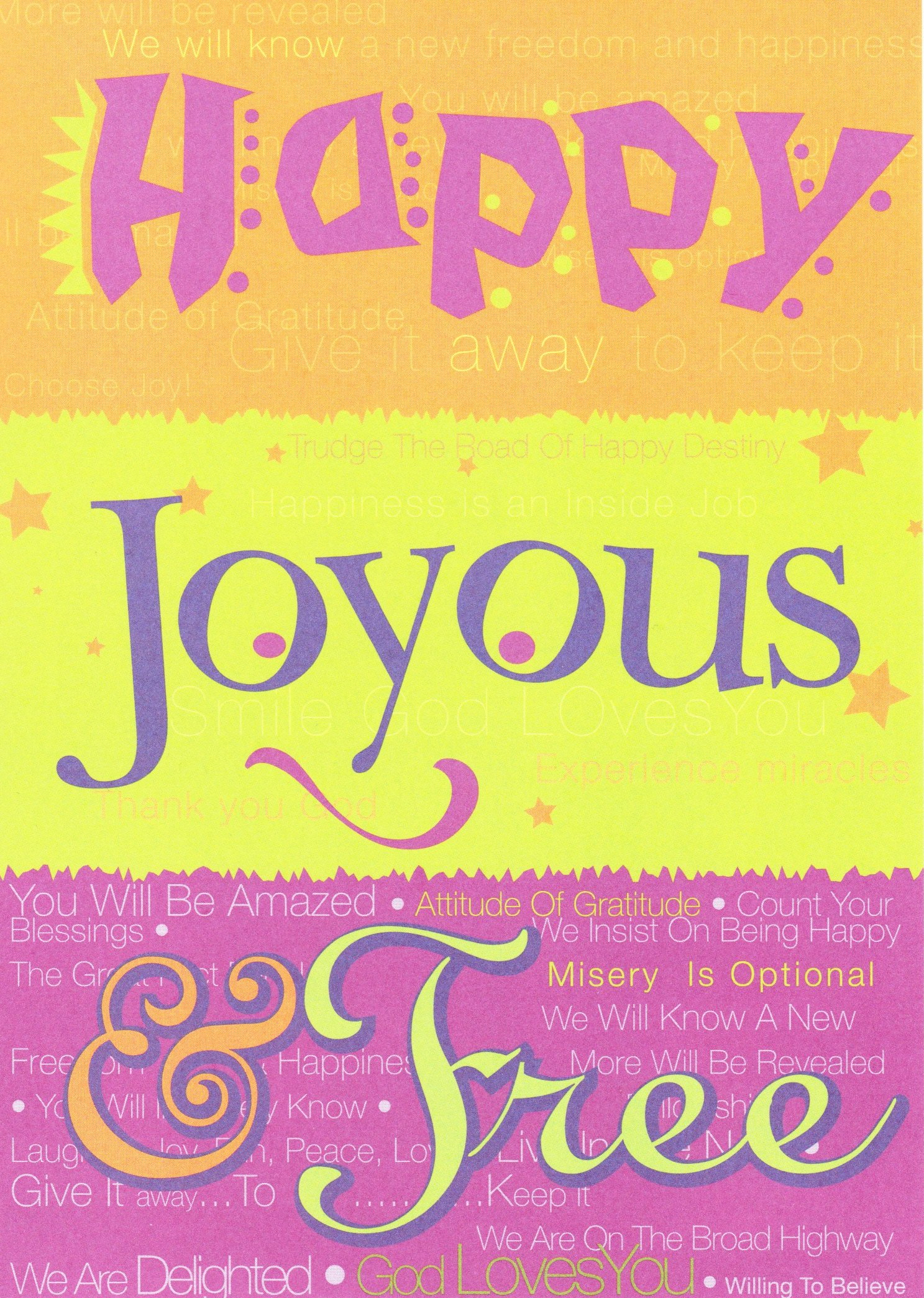 Happy Joyous and Free Card