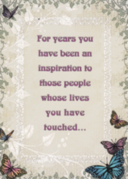 For Years Inspiration Card