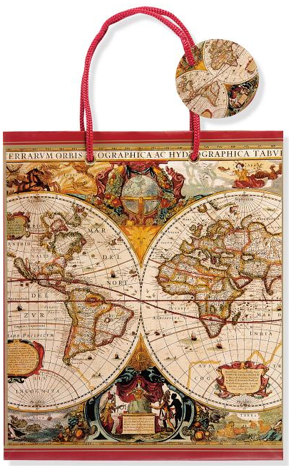 Geographic Map Gift Bag