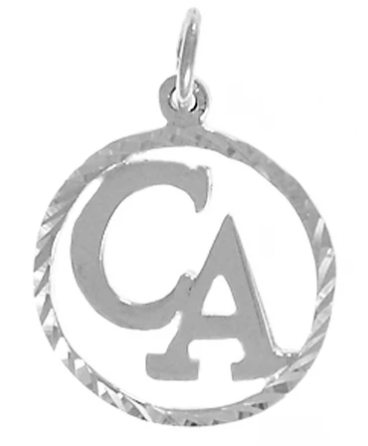 "Cocaine Anonymous Pendant, Sterling Silver, ""CA"" Initials"